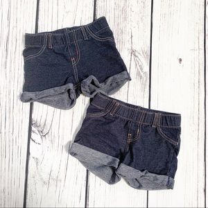 Girls circo Blue jegging shorts 4t